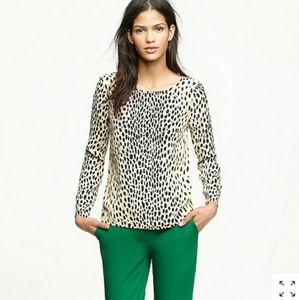 J. CREW | cheetah print long sleeve blouse | 6